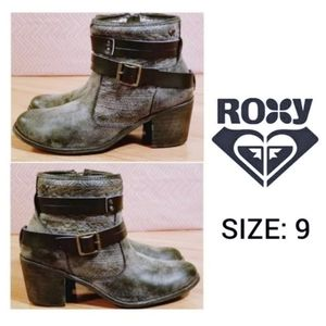 ROXY Marbled (Black/Gray) Boots, Size 9